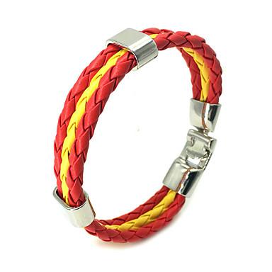 voordelige Herensieraden-Heren Dames Lederen armbanden Touw Vlag Casual / Sporty tekonahka Armband sieraden Blauw / Donker rood / Lichtblauw Voor Dagelijks Straat Festival