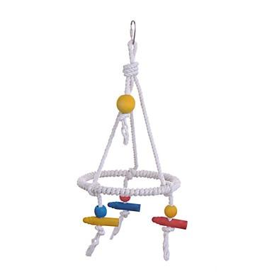ציפור מוטות וסולמות ידידותי לחיות מחמד פוקוס צעצוע הרגשתי / צעצועים בד Parrot חומר מיוחד 15 cm