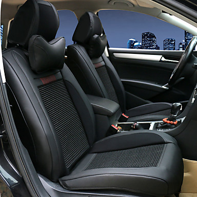 voordelige Auto-interieur accessoires-Auto-stoelhoezen Hoofdsteun en taille kussensets Rood / Beige / Koffie Leder Sport Voor Universeel