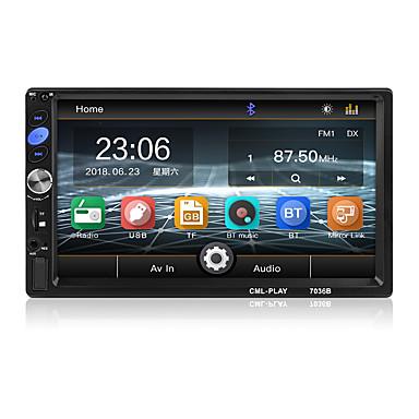 tanie Samochodowy odtwarzacz  DVD-7 cal bluetooth 2 din lustro link dla android 8.0 wsparcie kamera tylna radio samochodowe odtwarzacz lcd ekran dotykowy car audio fm 2 din 7036b