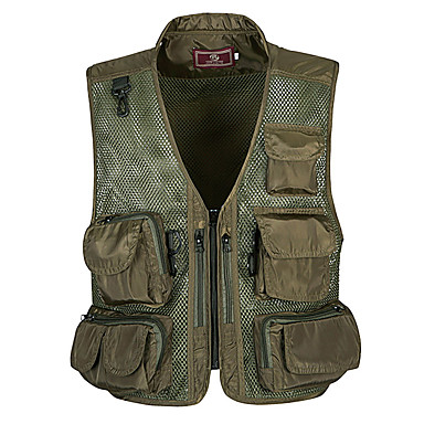 cheap Waders, Fishing Clothing-Men's Vest / Gilet Windproof Breathability Heat Retaining Fishing Daily Wear / Cotton