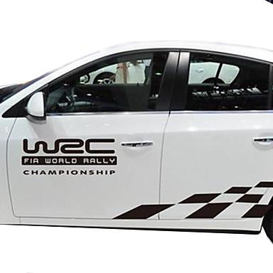 לבן / שחור מדבקות לרכב עסקים רכב מלא מדבקות טקסט / מספר מדבקות