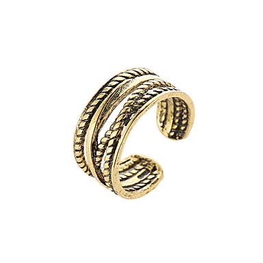 בגדי ריקוד נשים טבעת 1pc זהב שחור כסף סגסוגת מסוגנן מתנה חגים תכשיטים