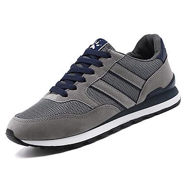 בגדי ריקוד גברים נעלי נוחות רשת אביב קיץ / סתיו חורף ספורטיבי / יום יומי נעלי אתלטיקה נושם שחור / אפור / כחול