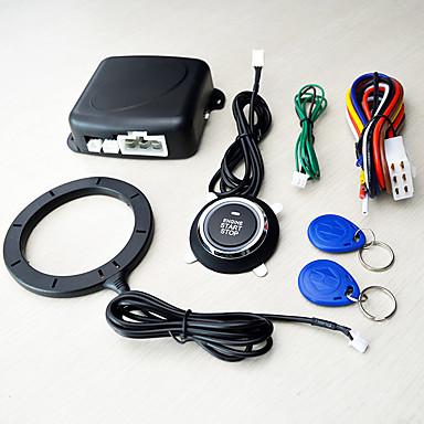 tanie Alarmy samochodowe-12v uniwersalny inteligentny klucz immobilizera rfid przycisk alarmu samochodowego uruchomienie transpondera bez kluczyka