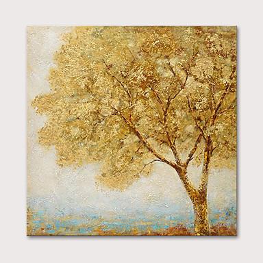 ציור שמן צבוע-Hang מצויר ביד - פרחוני / בוטני נוף אבסטרקט מודרני כלול מסגרת פנימית