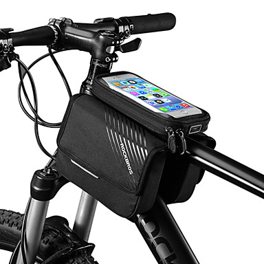 ROCKBROS Mobitel Bag Bike Frame Bag 6 inch Touch Screen Reflektirajući logotip Rainproof Biciklizam za iPhone X iPhone XR iPhone XS Crn Mountain Bike Bicikl / iPhone XS Max