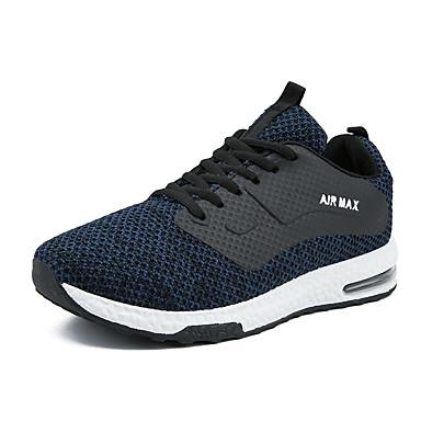 בגדי ריקוד גברים נעלי נוחות רשת סתיו / אביב קיץ ספורטיבי / יום יומי נעלי אתלטיקה ריצה / הליכה נושם שחור / אפור / כחול
