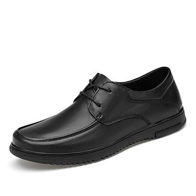 בגדי ריקוד גברים נעליים פורמליות עור נאפה Leather אביב קיץ / סתיו חורף עסקים / יום יומי נעלי אוקספורד ללא החלקה שחור