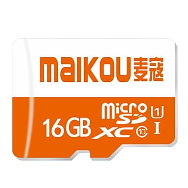 maikou 16GB מיקרו SD / TF כרטיס זיכרון UHS-I U1 50 - 80MB/s מצלמה