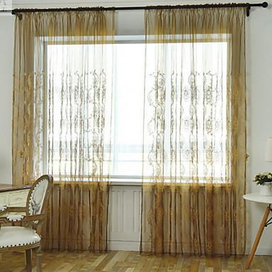 עכשווי דק ושקוף שני פנאלים דק ושקוף סלון   Curtains