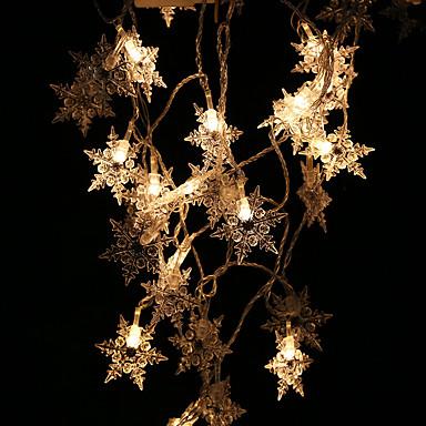 2m חוטי תאורה 20 נוריות לבן / צהוב / צבעוני Party / דקורטיבי / חג המולד סוללות AA 1set