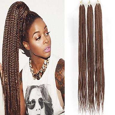 שיער קלוע ישר צמות טוויסט הסרוגה שיער צמות תחושות סינתטיות שיער סינטטי 3pack שיער צמות צבע טבעי 30 אִינְטשׁ 30