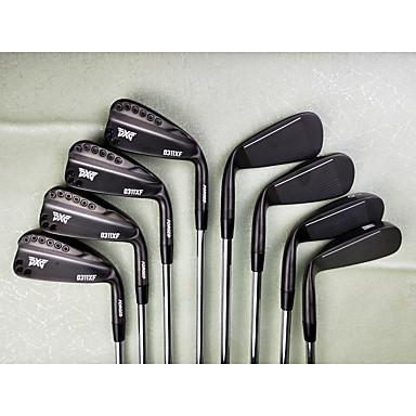 מחבטי גולף סטים לגולף מברזל גולף פעילות חוץ פלדת אל חלד + פלסטיק גולף יום יומי ספורט שחור שחור + כסף כסף /  שחור