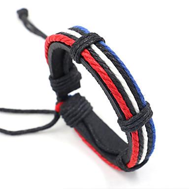 voordelige Herensieraden-Heren loom Bracelet Gevlochten Patroon Stijlvol Vlechtwerk Armband sieraden Regenboog Voor Carnaval / Leder