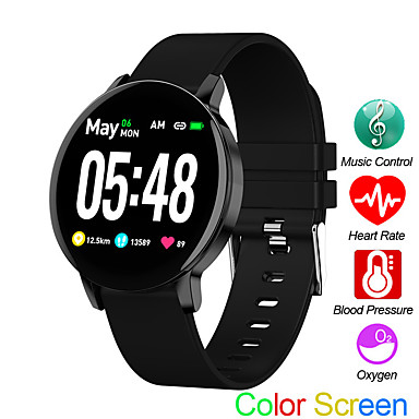r5s спортивные часы монитор сердечного ритма сна монитор артериального давления фитнес-трекер android ios управления музыкой цветной экран полосы