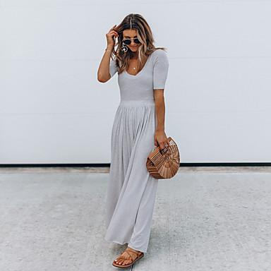 בגדי ריקוד נשים חליפת יוגה צבע אחיד יוגה סווטשירט שרוולים קצרים לבוש אקטיבי מיקרו-אלסטי רזה