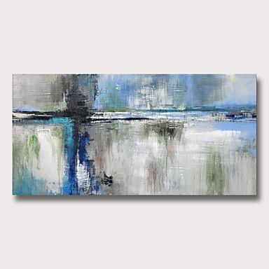 billige Veggkunst-Hang malte oljemaleri Håndmalte - Abstrakt Moderne Uten Indre Ramme