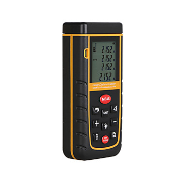 cheap Testers & Detectors-RZ A60 Portable Laser Distance Meter 0.05 to 60m with Bubble Level High Accuracy Measurement