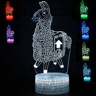 מנורת 3D הוביל שולחן לילה אור multicolor קריקטורה צעצוע luminaria