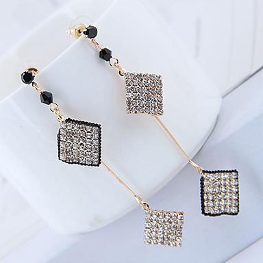 זול עגילים אופנתיים-בגדי ריקוד נשים עגילי טיפה עגיל לא תואם פשוט קוראני אופנתי יהלום מדומה עגילים תכשיטים זהב עבור יוֹם הַשָׁנָה מתנה יומי עבודה פֶסטִיבָל זוג 1