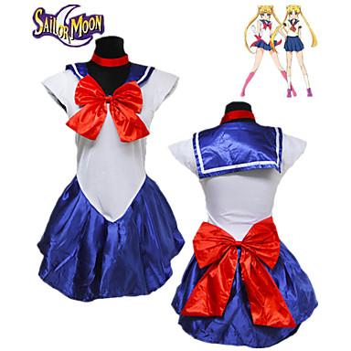 קיבל השראה מ מלח ירח קוספליי אנימה תחפושות קוספליי Japanese חליפות קוספליי אחיד ללא שרוולים שמלה / כפפות / לבוש ראש עבור בגדי ריקוד נשים / Neckwear / Neckwear