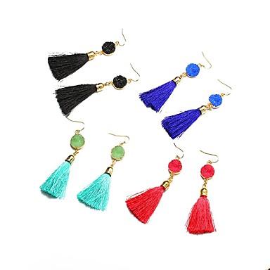 abordables Boucle d'Oreille-Femme Boucles d'Oreille Corde Des boucles d'oreilles Bijoux Rouge clair / Vert / Bleu Pour Festival 1 paire