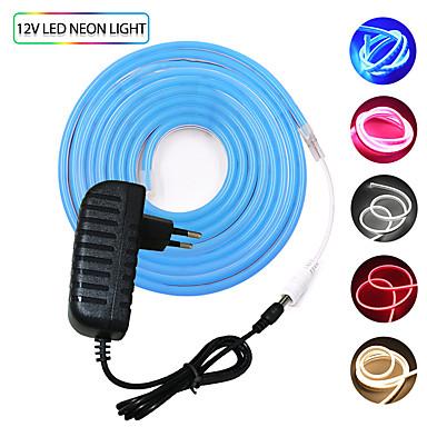 billige LED Strip Lamper-KWB 2m Fleksible LED-lysstriper 240 LED SMD3528 Varm hvit / Hvit / Rød Vanntett / Kreativ / Kuttbar 12 V 1set