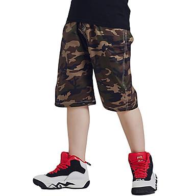 baratos Calças para Meninos-Bébé Para Meninos Activo Básico Estampado Algodão Shorts Verde Tropa