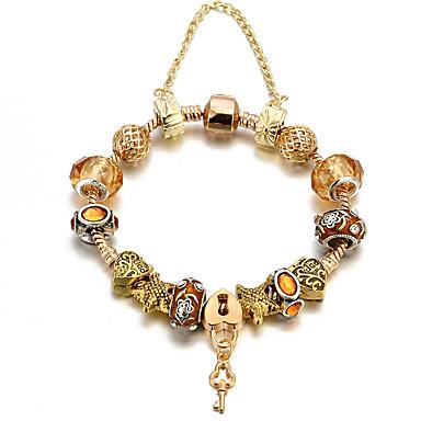 billige Motearmbånd-Dame Gull Perlearmbånd Perler Hjerte Mote Kobber Armbånd Smykker Gull Til Daglig