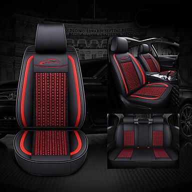 voordelige Auto-interieur accessoires-Auto-stoelhoezen Hoofdsteun en taille kussensets Paars / Koffie / Blauw Leder Zakelijk Voor Universeel