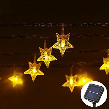 lende 5m 20leds כוכב בצורת נושא הוביל מחרוזת פיות אורות waterproof חג המולד חג החתונה קישוט צד התאורה