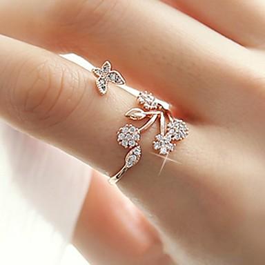 בגדי ריקוד נשים טבעת הגדר טבעת החותם זירקונה מעוקבת 1pc זהב כסף זהב ורד סגסוגת מעגלי ארופאי חתונה תכשיטים חמוד