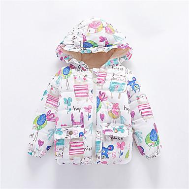 levne Dětské bundičky a kabátky-Dítě Dívčí Aktivní / Základní Tisk / Patchwork Tisk Standardní Bundičky a kabáty Bílá