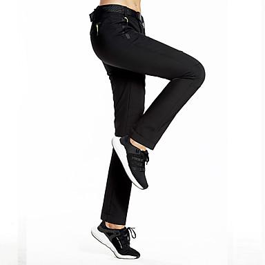 בגדי ריקוד נשים מכנסיים לטיולי הליכה חיצוני עמיד למים עמיד בטנת פליז נושם סתיו חורף מכנסיים סקי דיג מחנאות / צעידות / טיולי מערות שחור נייבי כהה XL XXL XXXL / ייבוש מהיר / שמור על חום הגוף
