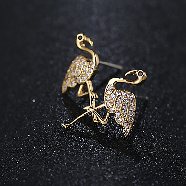 e1d0b0c91 Mulheres Prata Zircônia Cubica Brincos Curtos S925 Sterling Silver Brincos  Jóias Dourado / Prata Para Casamento