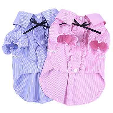 abordables Vêtements & Accessoires pour Chat-Chat Chien Tee-shirt Vêtements pour Chien Britannique Bleu Rose Coton Costume Pour Printemps & Automne Eté Homme Femme Mode