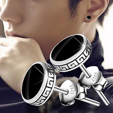 povoljno Muški nakit-Muškarci Sitne naušnice Magic Back Earring Vintage Style Vintage Rock Glina Naušnice Jewelry Crn Za Dnevno Ulica 1 par