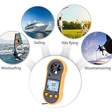 voordelige Test-, meet- & inspectieapparatuur-rz818 draagbare anemometer anemometro thermometer windsnelheidsmeter meter windmeter 30m / s lcd digitale in de hand te houden maatregel