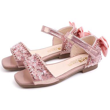 hesapli Kız Çocuk Ayakkabıları-Genç Kız PVC Sandaletler Rahat Siyah / Gümüş / Pembe Yaz