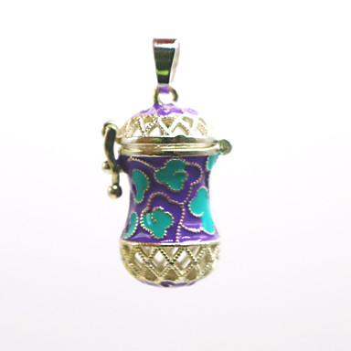 abordables Collier-Femme Pendentif Médaillon Broche Bijoux Violet Bleu Pour Quotidien