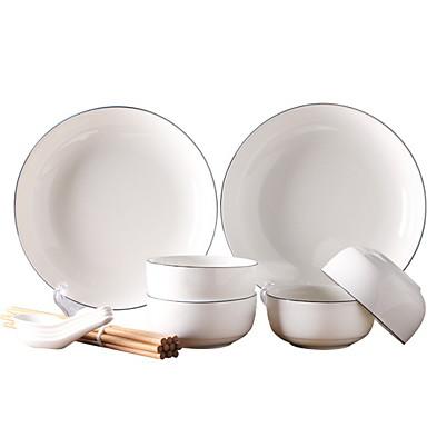 2 חלקים סטים לארוחות כלי אוכל כלי חרס יצירתי
