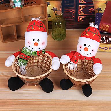 povoljno Holiday Decorations-odmor ukrasi novogodišnji ukrasni predmeti ukrasni ljubičasti / crveni / srebrni 1pc