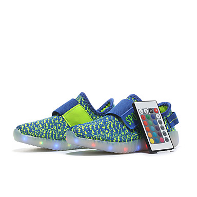 91cd36cfa35 Boys' / Girls' Remote Control LED Shoes Faux Leather / Flyknit Spring /  Summer Light Up Shoes Sneakers Walking Shoes LED for Kids Red / Green / Blue