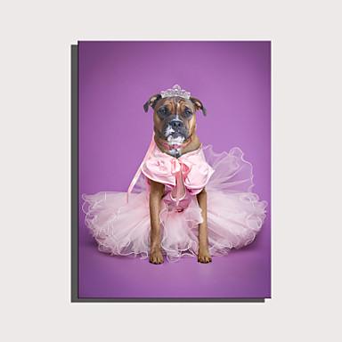 abordables Toiles-e-home toile tendue série d'animaux mignons - jupe rose décoration de chien princesse peinture one pcs