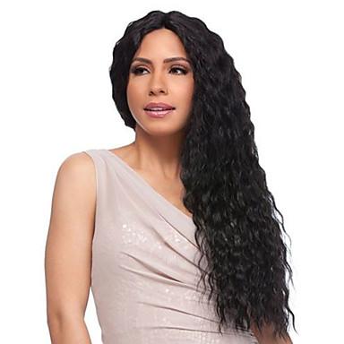 שיער אנושי חזית תחרה פאה חלק חינם בסגנון שיער ברזיאלי מתולתל שחור פאה 130% צפיפות שיער נשים בגדי ריקוד נשים ארוך אחרים Clytie