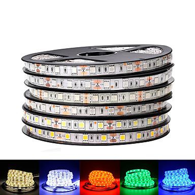 billige LED Strip Lamper-loende 2pack dc 12v led strip 5050 smd 60leds / m svart pcb bord fleksibel ledet lys vanntett rgb 5050 ledet tape for tv bakgrunnsdekorasjon
