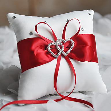 Poli / Pamuk Karışımı / alaşım Metal / Kristaller / Yapay Elmaslar Polyester Yuvarlak Yastık Düğün Tüm Mevsimler