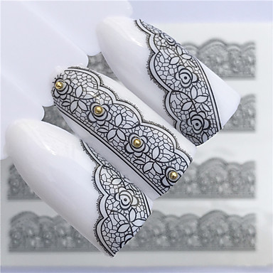 povoljno Ljepota i kosa-1 pcs Naljepnice Cvjetni Tema nail art Manikura Pedikura Mini Style / Sigurnost / Ergonomski dizajn Stilski / Jednostavan