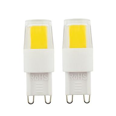 billige Elpærer-2stk g9 led pærer 3w cob led lys dimbare lyspærer ac110v ac220v for hjemmekontor varm hvit hvit